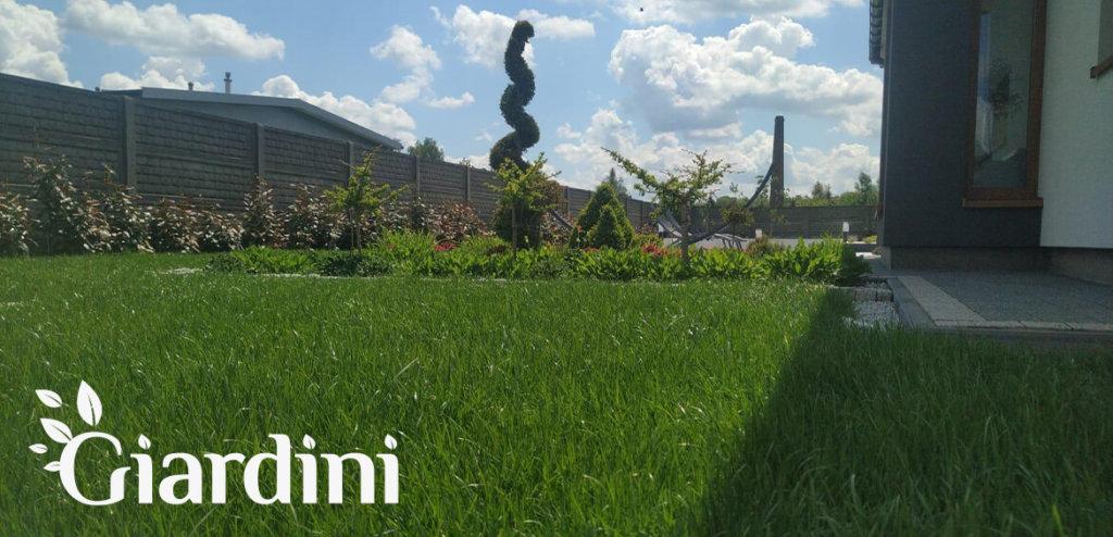 Giardini - Montaż systemu nawadniania i instalacja trawnika z rolki